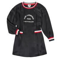 Abbigliamento Bambina Abiti corti Karl Lagerfeld RUBIS Nero