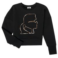 Abbigliamento Bambina Felpe Karl Lagerfeld CORNALINE Nero
