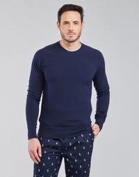 Abbigliamento Uomo T-shirts a maniche lunghe Polo Ralph Lauren LS CREW SLEEP TOP Marine