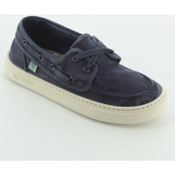 Scarpe Bambino Sneakers basse Natural World 6473 boat shoes tessuto Blu