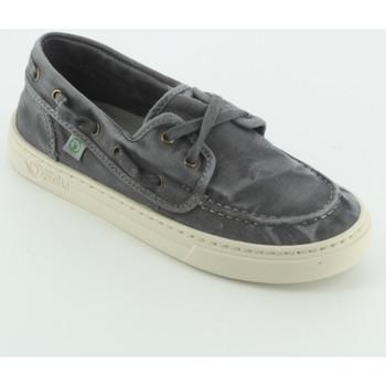 Scarpe Bambino Sneakers basse Natural World 6473 boat shoes tessuto Grigio