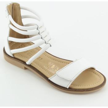 Scarpe Bambina Sandali Momino 2578 sandalo schiava velcro Bianco