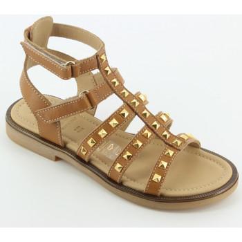 Scarpe Bambina Sandali Momino 4057 sandalo schiava borchie Marrone