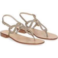 Scarpe Donna Sandali De Capri A Paris sandalo infradito SO31 lurex platino PLATINO