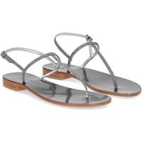 Scarpe Donna Sandali De Capri A Paris sandalo infradito PO14 lurex grigio GRIGIO