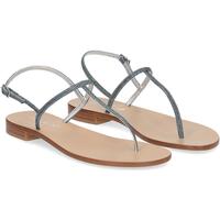 Scarpe Donna Sandali De Capri A Paris sandalo infradito PO14 lurex blu BLU