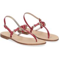 Scarpe Donna Sandali De Capri A Paris sandalo infradito nodino pelle rosso ROSSO