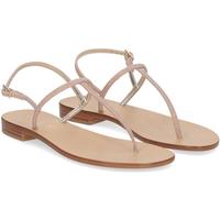 Scarpe Donna Sandali De Capri A Paris sandalo infradito PO14 lurex rosa ROSA