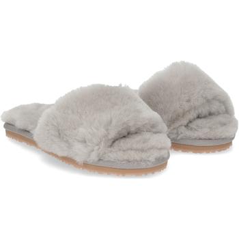 Scarpe Donna Pantofole Mou sheepskin fur slide slipper light GRIGIO