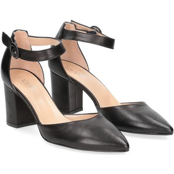 Scarpe Donna Décolleté Il Laccio sandaliera 1357 pelle nero NERO