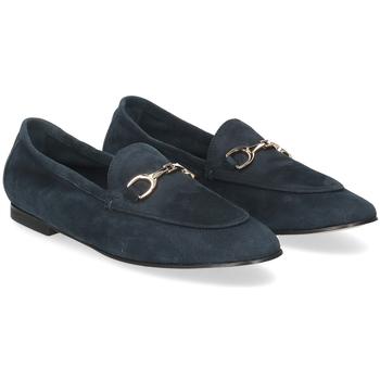Scarpe Donna Mocassini Il Laccio mocassino 04010 camoscio blu BLU