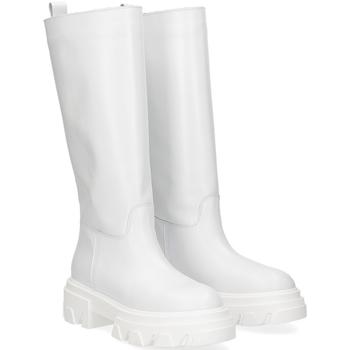 Scarpe Donna Stivali Il Laccio Stivale B61 pelle bianca BIANCO