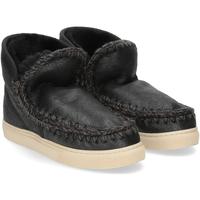 Scarpe Donna Stivaletti Mou Eskimo sneaker cracked black grey NERO