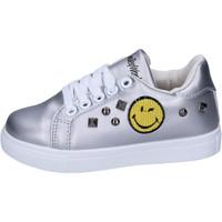 Scarpe Bambina Sneakers basse Smiley BJ987 Argento
