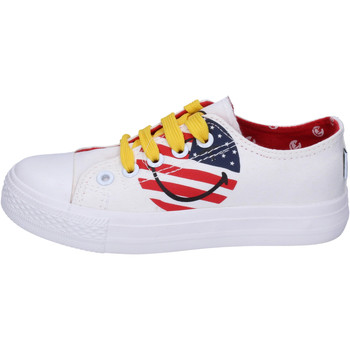 Scarpe Bambino Sneakers basse Smiley BJ988 Bianco