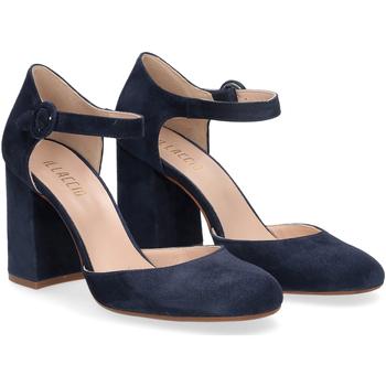 Scarpe Donna Décolleté Il Laccio sandaliera camoscio blu BLU