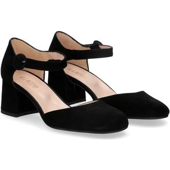 Scarpe Donna Décolleté Il Laccio sandaliera camoscio nero NERO
