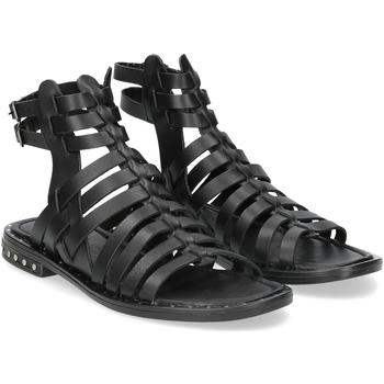 Scarpe Donna Sandali Il Laccio sandalo F-288-8 pelle nero NERO