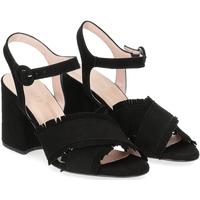 Scarpe Donna Sandali Il Laccio sandalo 1606 camoscio nero NERO