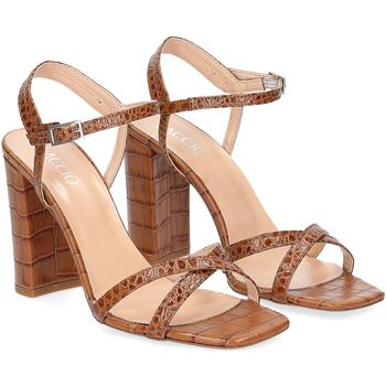 Scarpe Donna Sandali Il Laccio sandalo 1200 pelle cocco cuoio MARRONE