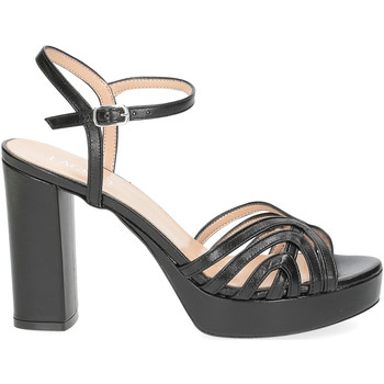 Scarpe Donna Sandali Il Laccio sandalo 2849 pelle nero NERO