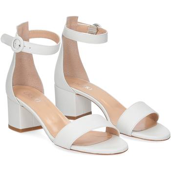 Scarpe Donna Sandali Il Laccio sandalo 669 pelle bianco BIANCO