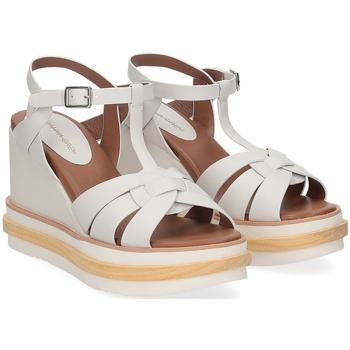 Scarpe Donna Sandali Rahya Grey sandalo krizia pelle bianco BIANCO