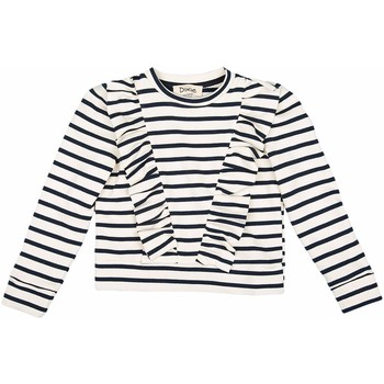 Abbigliamento Bambina T-shirts a maniche lunghe Dixie GIROCOLLO ML GIRL Panna