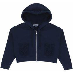 Abbigliamento Bambina Felpe Dixie FELPA ZIP INTERA C/CAPP GIRL Blue