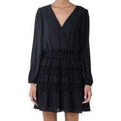 Abbigliamento Donna Abiti corti Molly Bracken YOUNG LADIES WOVEN DRESS ABITO DONNA Black