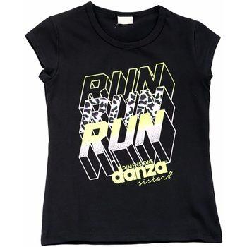 Abbigliamento Bambina T-shirt maniche corte Dimensione Danza T-SHIRT BIELASTICO BIMBA Nero