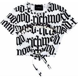 Abbigliamento Bambina T-shirt maniche corte John Richmond T-SHIRT EGNOR MC GIRL White