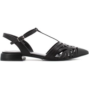 Scarpe Donna Sandali Elvio Zanon sandalo basso EN1802X NERO Pelle