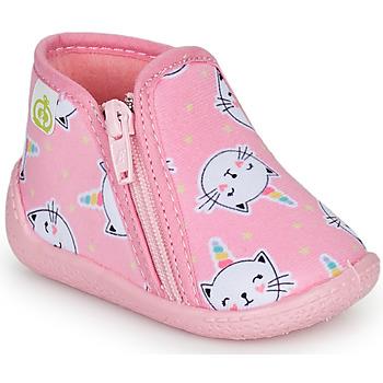 Scarpe Bambina Pantofole Citrouille et Compagnie PAGLIATELLE Rosa