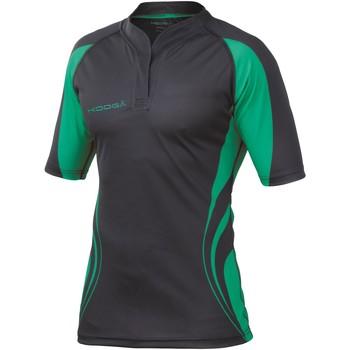 Abbigliamento Uomo T-shirt maniche corte Kooga KG105 Nero/Verde Smeraldo
