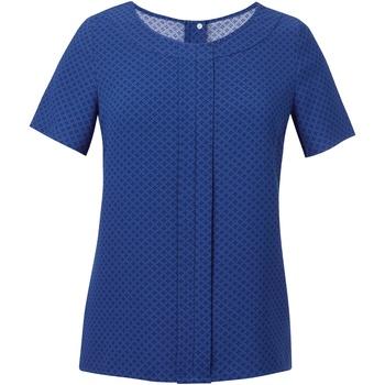 Abbigliamento Donna Top / Blusa Brook Taverner Crepe De Chine Blu reale/Blu scuro