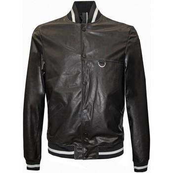 Abbigliamento Uomo Giacca in cuoio / simil cuoio Low Brand Giubbotto in pelle - Nero