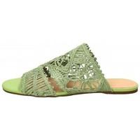Scarpe Donna Ciabatte Miss Unique Sandalo basso in tessuto Verde Verde