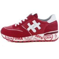 Scarpe Donna Sneakers basse Keep Calm 53798 ROSSO