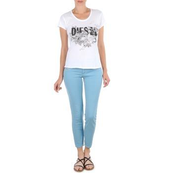 Abbigliamento Donna Pinocchietto Diesel LIVIER-ANKLE Blu