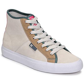 Scarpe Donna Sneakers alte DC Shoes MANUAL HI SE Beige