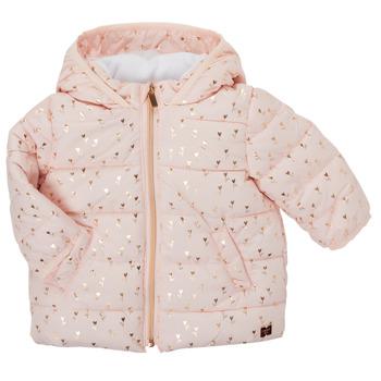 Abbigliamento Bambina Piumini Carrément Beau ACAJOU Rosa