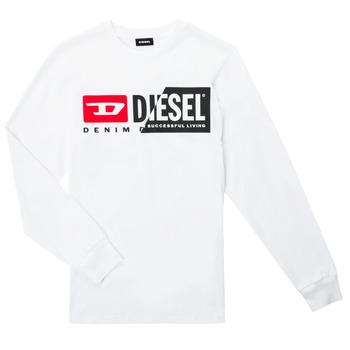 Abbigliamento Unisex bambino T-shirts a maniche lunghe Diesel TDIEGOCUTY ML Bianco