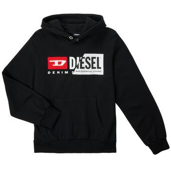 Abbigliamento Unisex bambino Felpe Diesel SGIRKHOODCUTYX OVER Nero
