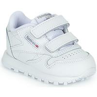 Scarpe Unisex bambino Sneakers basse Reebok Classic CL LTHR 2V Bianco
