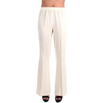 Abbigliamento Donna Pantaloni morbidi / Pantaloni alla zuava Jucca J3314002 A zampa Donna Panna Panna