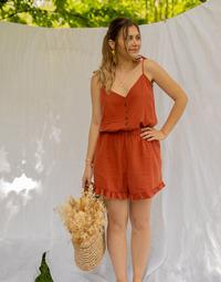 Abbigliamento Donna Tuta jumpsuit / Salopette Céleste NEROLI Terracotta
