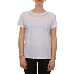 Abbigliamento Donna T-shirt maniche corte Emme Marella 59710115200 - 007 BIANCO STRASS Bianco