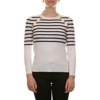 Abbigliamento Donna Maglioni Emme Marella 53612115200 - 010 NAVY + BIANCO Bianco