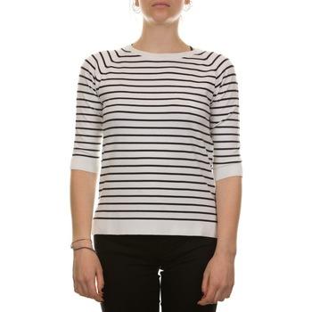 Abbigliamento Donna Maglioni Emme Marella 53612515200 - 010 NAVY + BIANCO Bianco